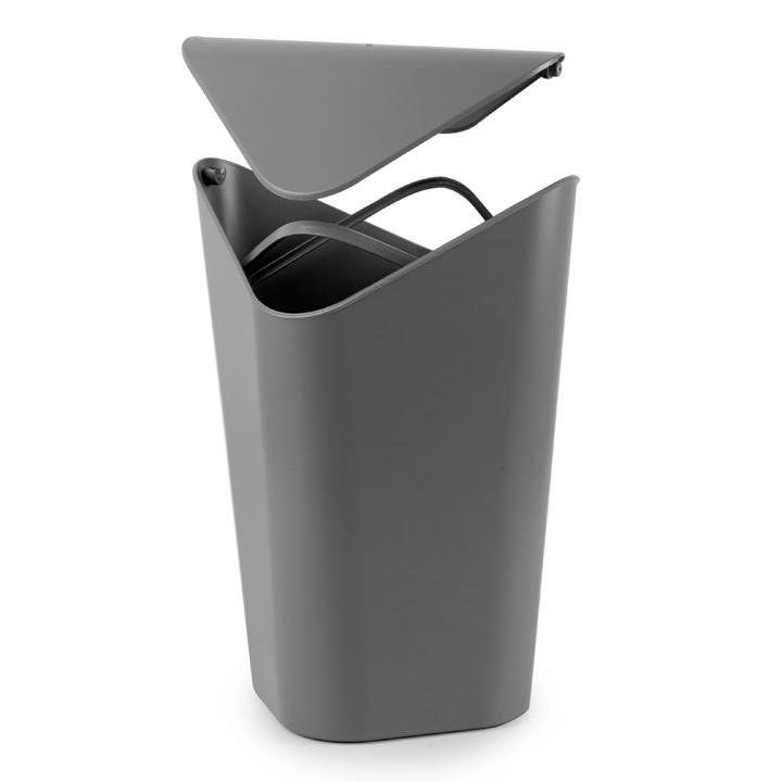 ゴミ箱 おしゃれ umbra コーナーカン ふた付き ゴミ箱 袋 見えない スタイリッシュ 蓋つき ダストボックスL ごみ箱 ペール アントレックス 2086900149【D】【B】