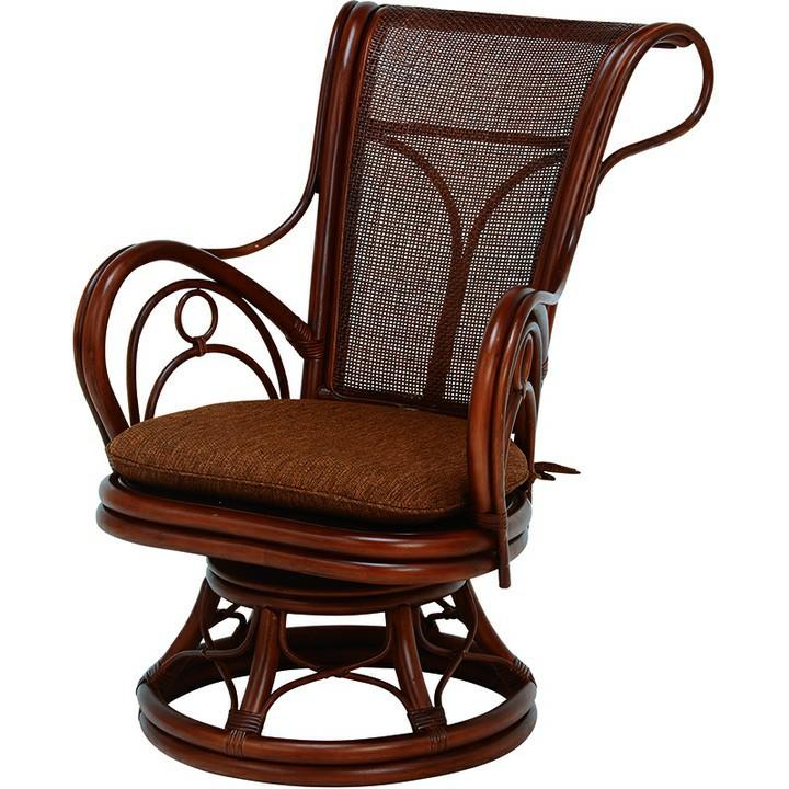回転座椅子 ブラウン RZ-821BR送料無料 座椅子 椅子 イス いす 籐製 ラタン おしゃれ 座椅子いす 座椅子おしゃれ 椅子いす いす座椅子 おしゃれ座椅子 いす椅子 萩原 【D】
