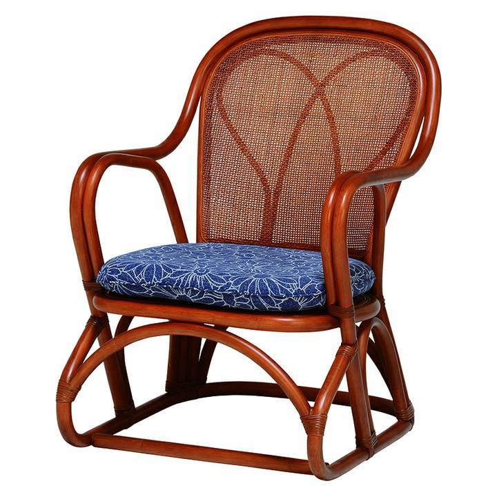 高座椅子 ブラウン RZ-822BR送料無料 座椅子 椅子 イス いす 籐製 ラタン おしゃれ 座椅子いす 座椅子おしゃれ 椅子いす いす座椅子 おしゃれ座椅子 いす椅子 萩原 【D】