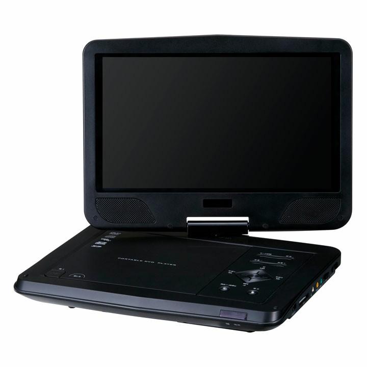 10型ワイド ポータブルDVDプレーヤー 乾電池 ブラック GH-PDV10V-BK送料無料 DVDプレーヤー DVDプレイヤー 持ち運び ポータブル グリーンハウス 【D】