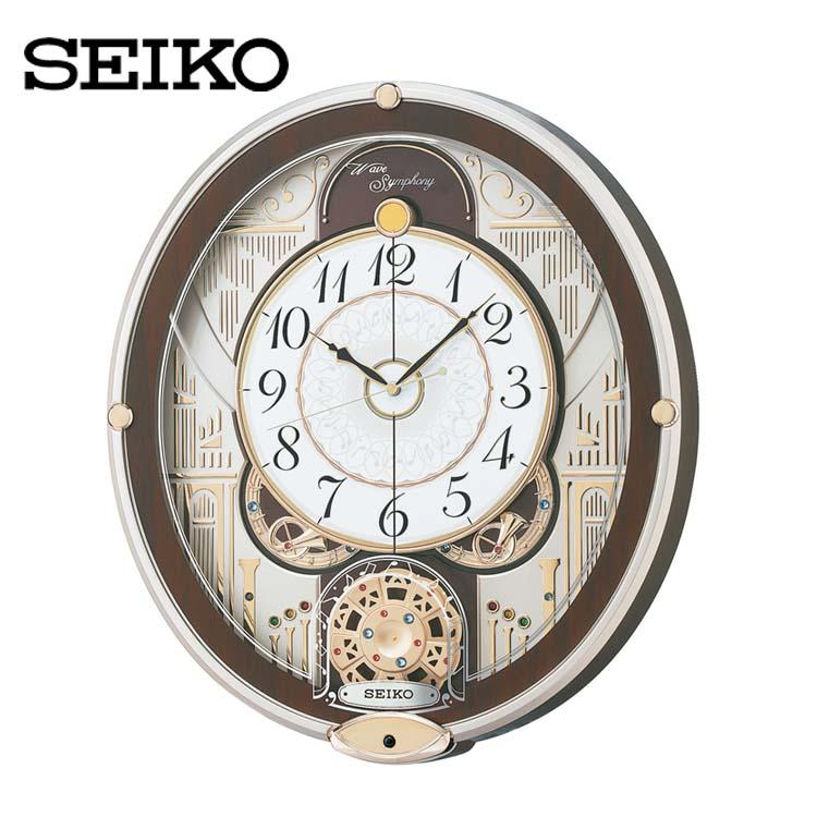 電波からくり時計 RE577B送料無料 SEIKO 掛け時計 壁掛け からくり時計 電波時計 アナログ スイープ メロディ 音量調節 セイコークロック 【TC】, Style Edition 811c9f43