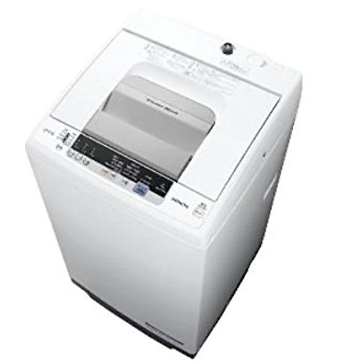 洗濯機 7kg 日立 全自動洗濯機 NW-R704-W送料無料 浸透洗浄 風脱水 ほぐし脱水 簡易乾燥 上開き 時間短縮 部屋干し 白 HITACHI 【D】