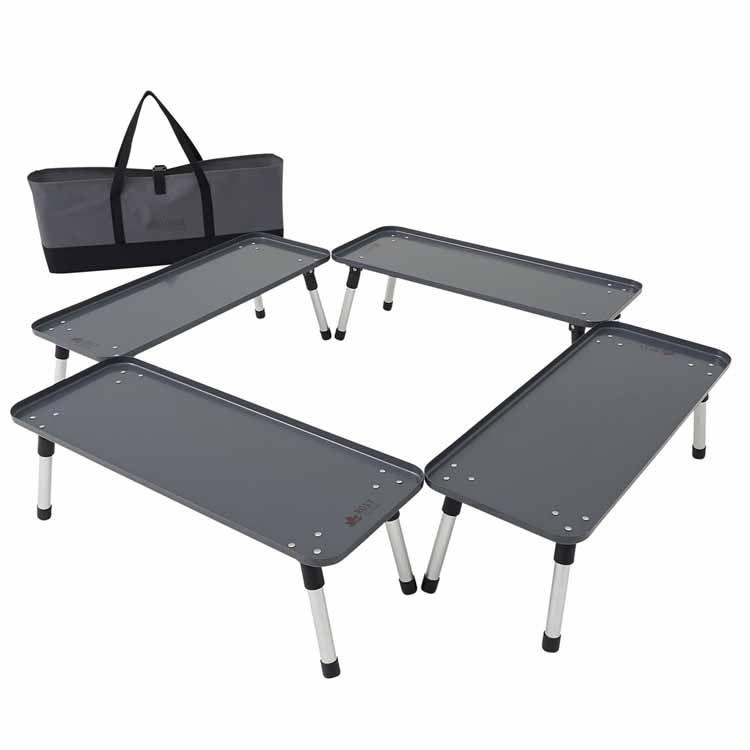 ROSY 囲炉裏ラックテーブル 81064131送料無料 アウトドアテーブル いろり 4個セット BBQ ラック LOGOS キャンプ アウトドア 料理 ロゴス 【D】【B】