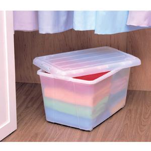 ナチュラルクローゼットキャリーN-550 アイリスオーヤマ (収納BOX/収納ボックス/収納用品/収納ケース プラスチック/衣装衣類ケース/押入れ収納/ソックス帽子洋服ファッションの収納や衣替えに最適♪)