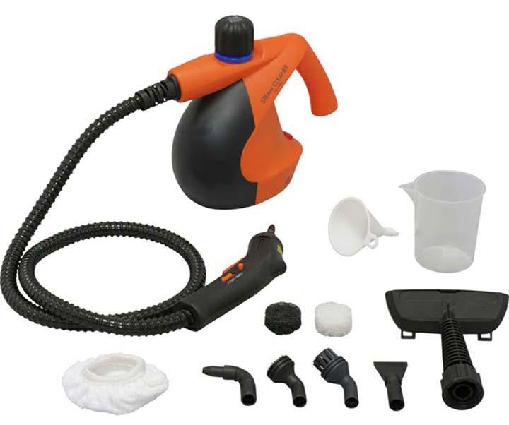 スチームクリーナー STM-304N アイリスオーヤマクリーナー 白 シンプル スチーマー スチーム コンパクト 洗浄 清掃 掃除 除菌 キッチン 水回り 16点セット アイリス ロングホース ハンディ ボイラー式 ホワイト オレンジ