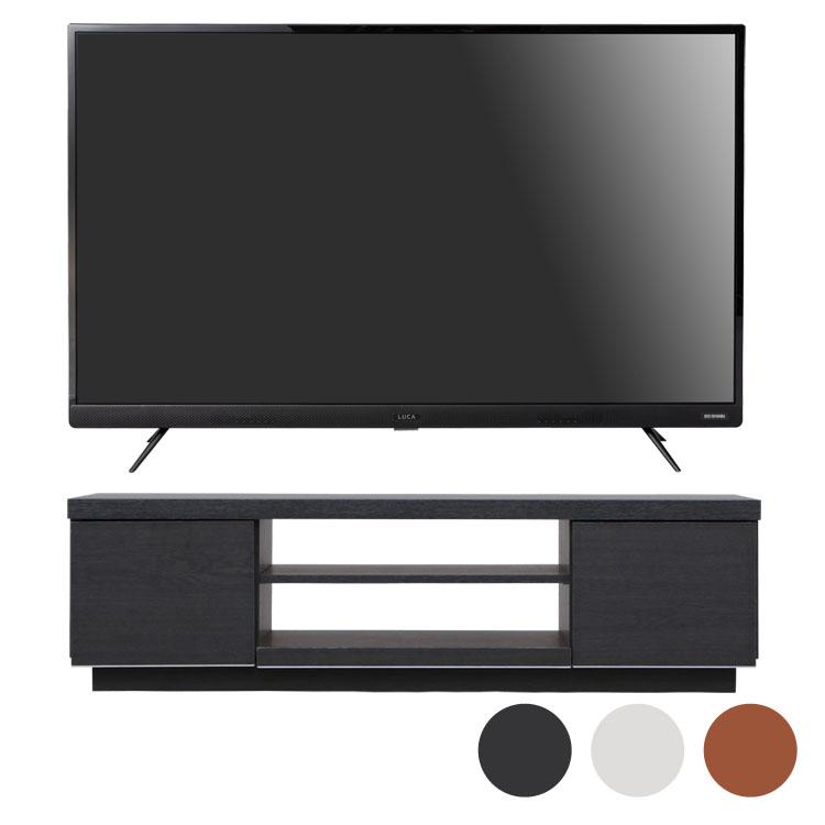 4Kテレビ 43型 音声操作 テレビ台BAB100送料無料  テレビ テレビ台 セット TV 4K 音声操作 43型 黒 引き出し アイリスオーヤマ■2