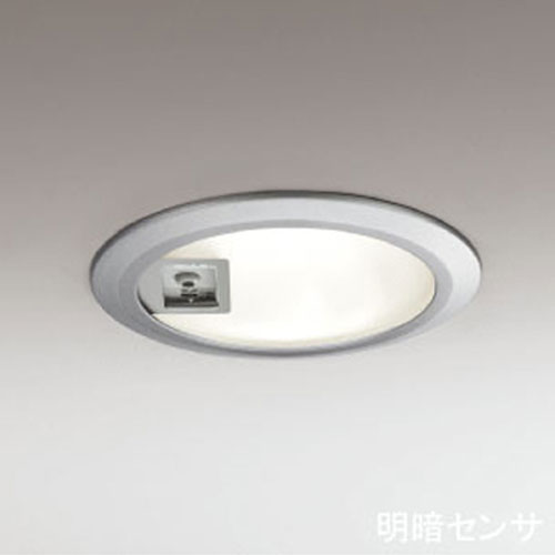 【送料無料】オーデリック(ODELIC) 明暗センサー付き ダウンライト(軒下用) シルバー OD062616 電球色【TC】