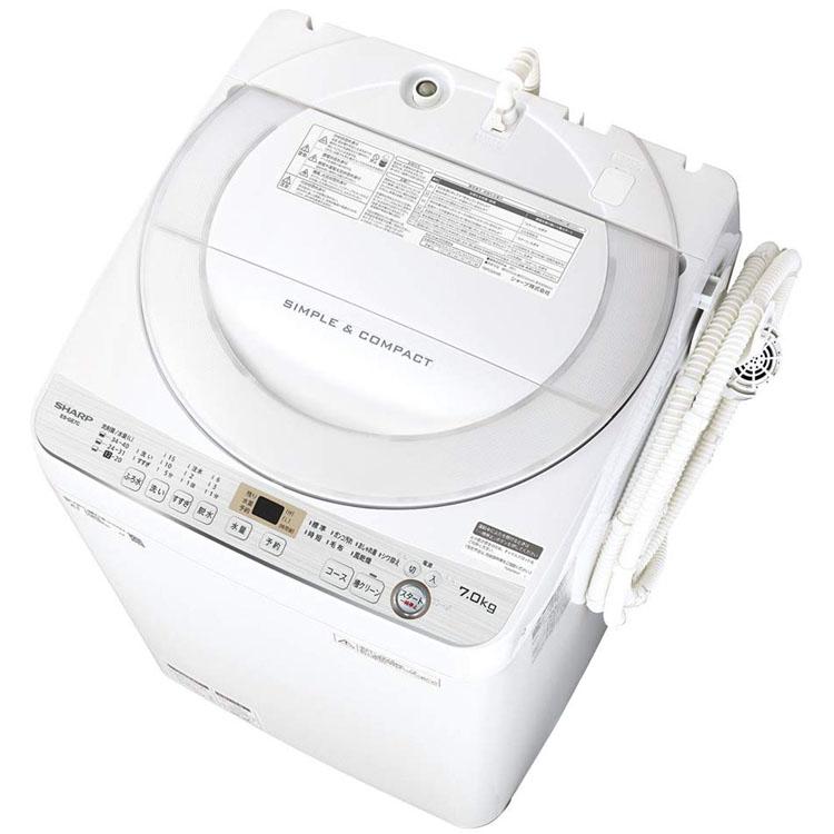 全自動洗濯機 7kg ES-GE7C-W送料無料 洗濯機 洗濯 節水 全自動 一人暮らし 抗菌 家電 生活家電 SHARP シャープ 【D】■2