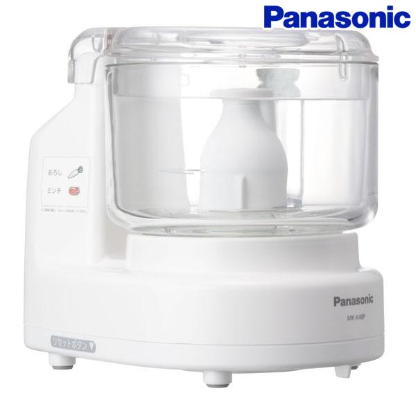 【送料無料】Panasonic〔パナソニック〕フードプロセッサー スピードクッキング本付 MK-K48P-W【TC】【DW】
