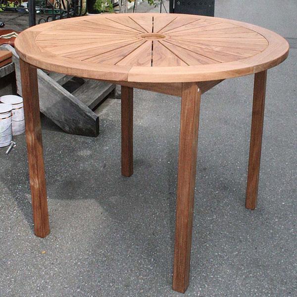 チーク材製ハイテーブル