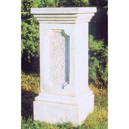 イタリア製石像台座:イタカ島(幅40cm、奥行40cm、高さ98cm)