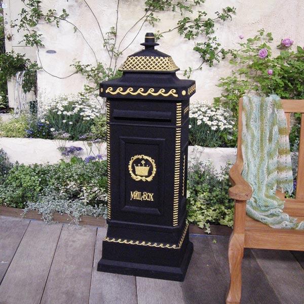 ヨーロピアンメイルボックス(黒)(郵便受け)