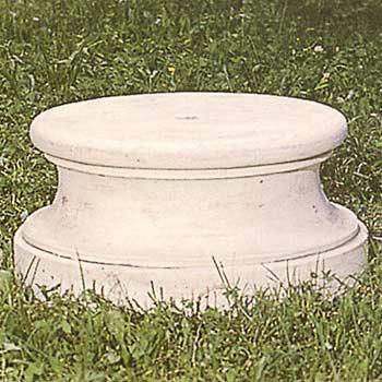 イタリア製石像台座:ポストイナ(直径56cm、高さ30cm)
