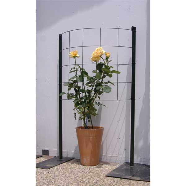 つるバラ用フェンス:カラマリーナ ハーフムーン・リトル(グリーンパネル)