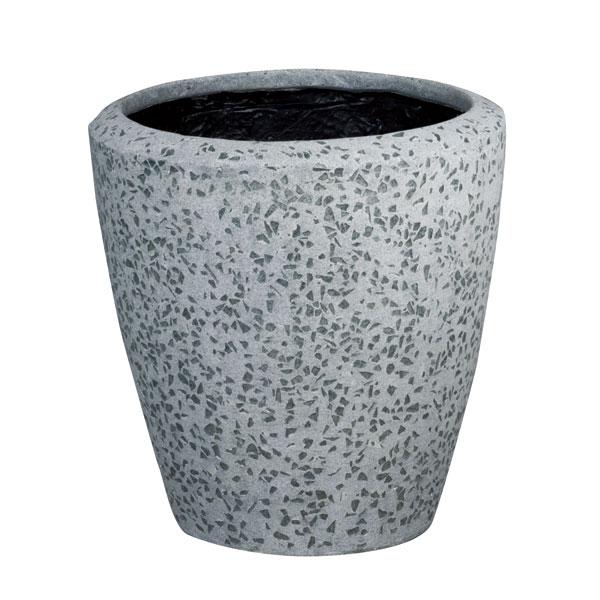ファイバーグラス鉢カバー:ブライトBR-34グレー(8号鉢用)