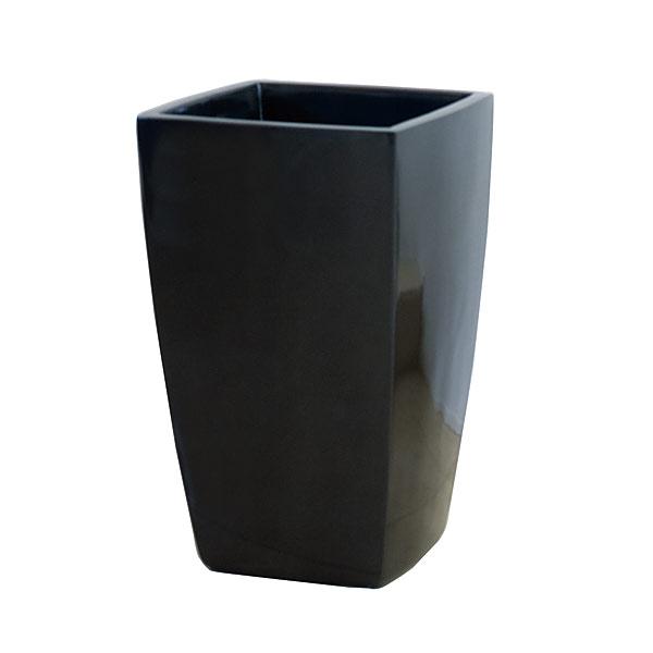 ファイバーグラス鉢カバー:アーバンポットAL型メタリックグレーAL-42(8~10号鉢用)