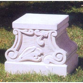イタリア製石像台座:アウグスト(幅35cm、奥行き28cm、高さ30cm)
