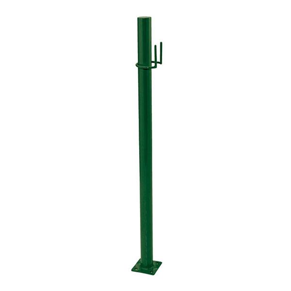 ドッグポールAタイプ・グリーン(ガーデン用のベースプレート付き犬用スタンド)
