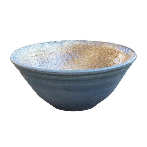 信楽焼の水鉢:青古信楽14号