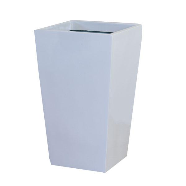 ファイバーグラス鉢カバー:スクエアーポットL型ホワイトL-35型(6~8号鉢用)