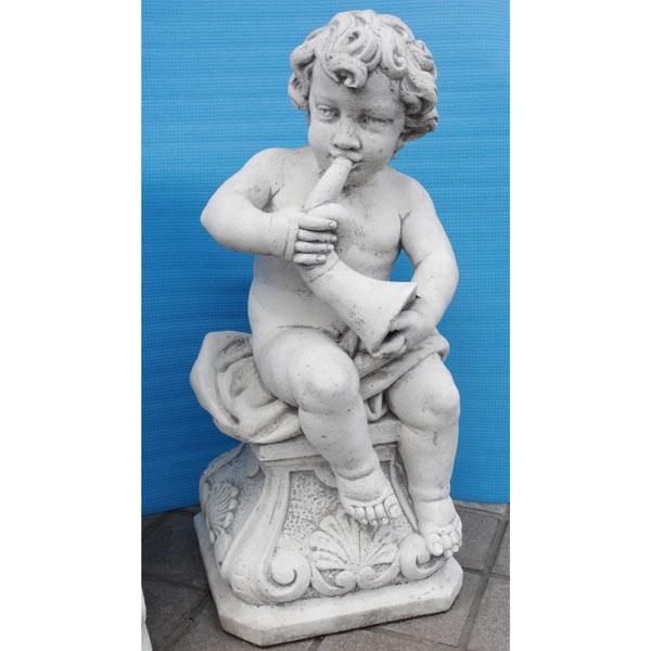 イタリア製石像:子供像ロレンツォ(高さ70cm)
