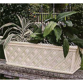 イタリア製花鉢:バスケット模様プランター90