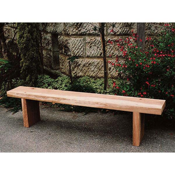 枕木台:ベンチ1型・カンナ削り無塗装仕上げ