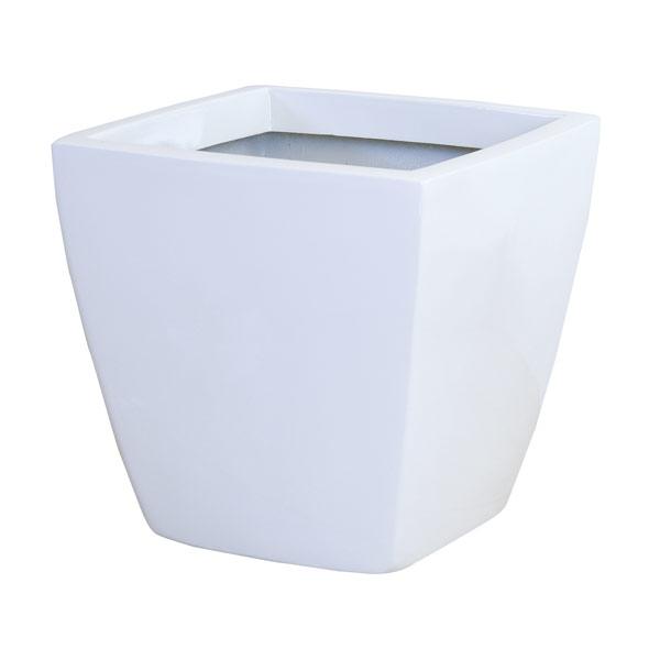 ファイバーグラス鉢カバー:アーバンポットAS型ホワイトAS-50(12~13号鉢用)