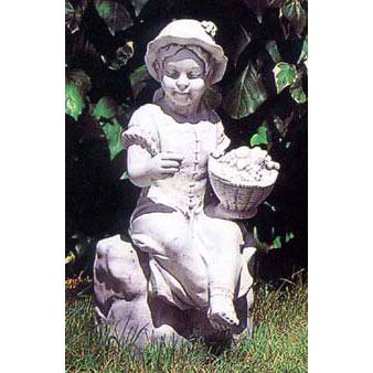 イタリア製石像:羊飼いの少女
