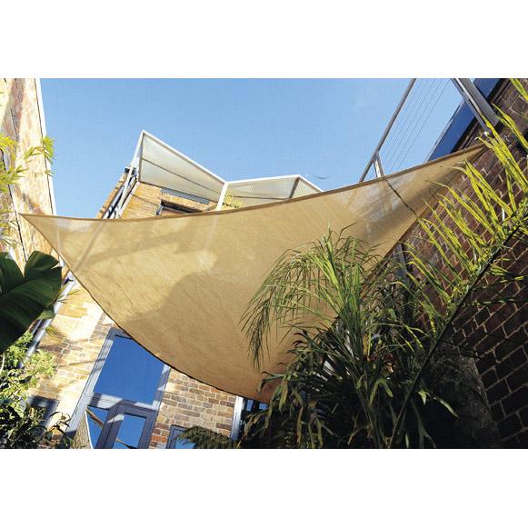 シェードセイル(日よけ) トライアングル(三角形) サンド小 3.6m×3.6m×3.6m