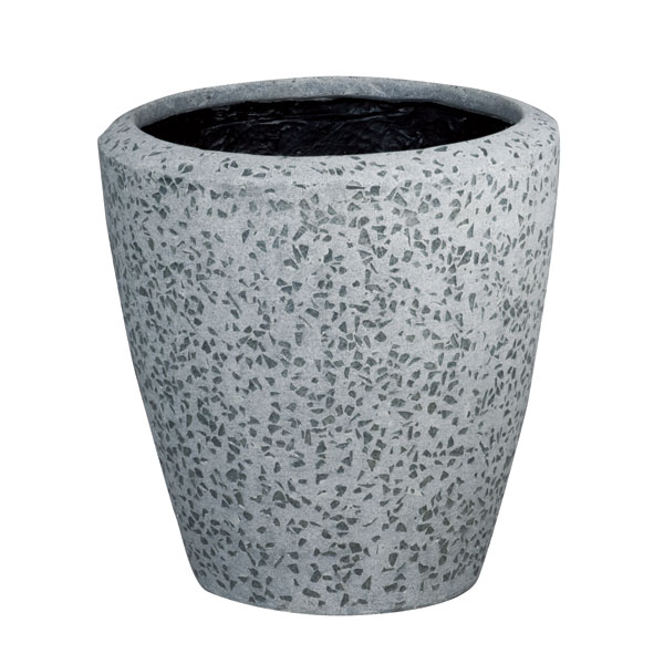 ファイバーグラス鉢カバー:ブライトBR-40グレー(10号鉢用)