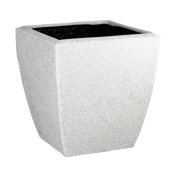 ファイバーグラス鉢カバー:ブライトBS-48ホワイト(12号鉢用)