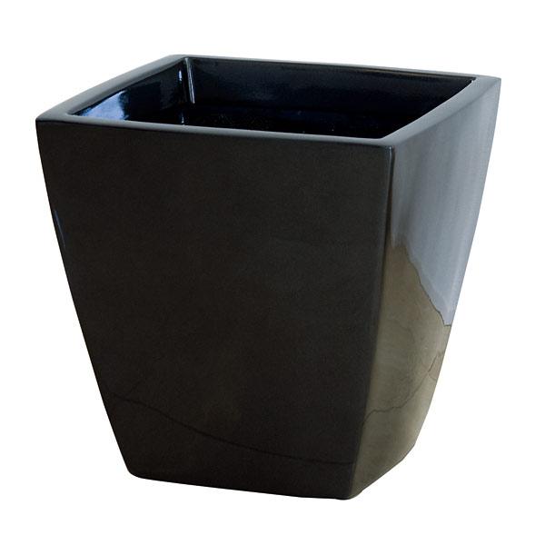 ファイバーグラス鉢カバー:アーバンポットAS型メタリックグレーAS-50(12~13号鉢用)