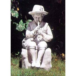 イタリア製石像:羊飼いの少年