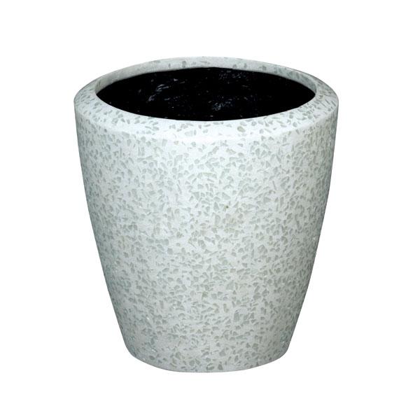 ファイバーグラス鉢カバー:ブライトBR-34ホワイト(8号鉢用)