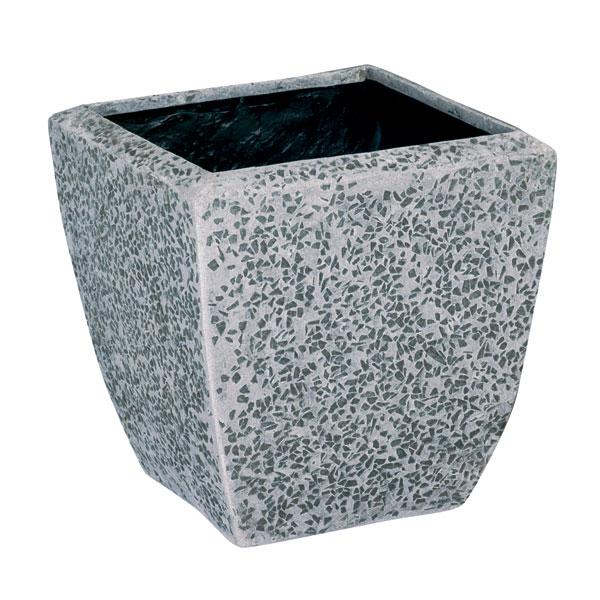 ファイバーグラス鉢カバー:ブライトBS-48グレー(12号鉢用)