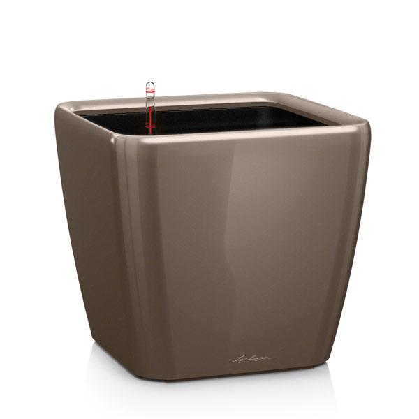 レチューザプランター:クアドロ・ジョーカー35cm グレーベージュ潅水装置付