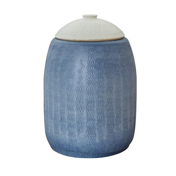 信楽焼のコンポスト(コンポスター):ホワイト・ブルー