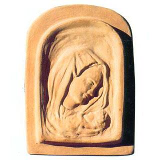 イタリア製テラコッタパネル:聖母のパネル