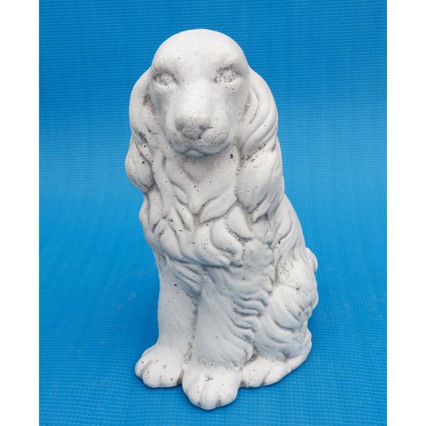 イタリア製石像:コッカー(コッカースパニエル・高さ39cm)