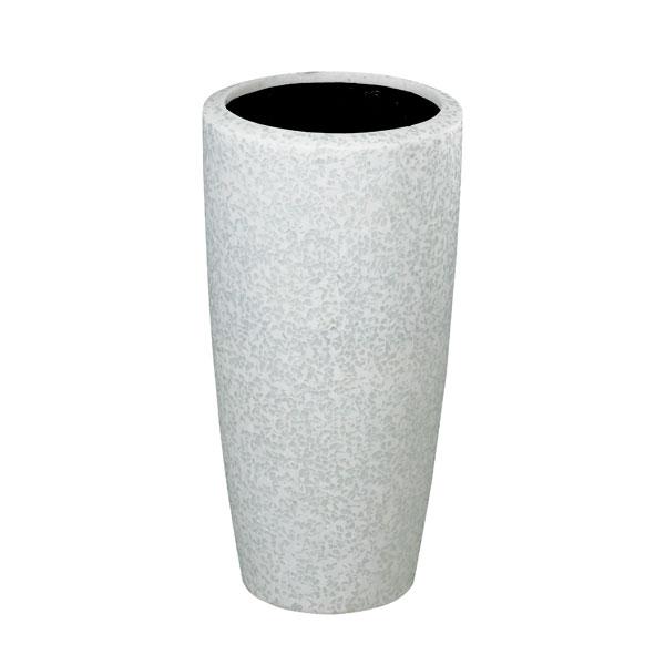ファイバーグラス鉢カバー:ブライトラウンドハイタイプBR30-6025ホワイト(7号鉢用)