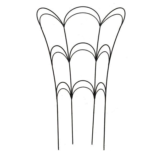 鉢植えの植物の支え兼デコレーションに! フラワーガード(M)AFG01-60(高さ62cm)