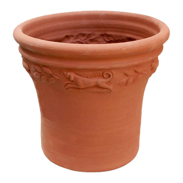 Willow Potteryの鉢 スプリッジドポット:いぬ*直径36.5cm