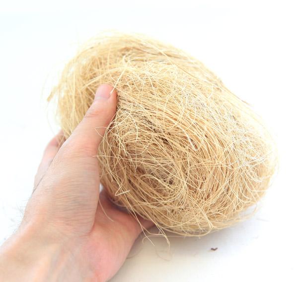 [送料無料]カラーヤシ繊維:白色5kg入り