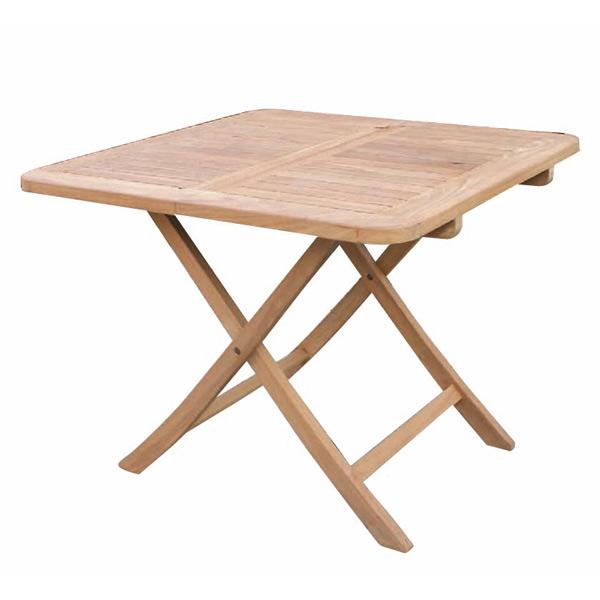 チークの折り畳みスクエアテーブルB