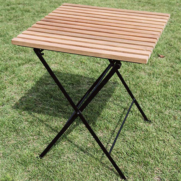 折り畳みアイアンチークテーブル