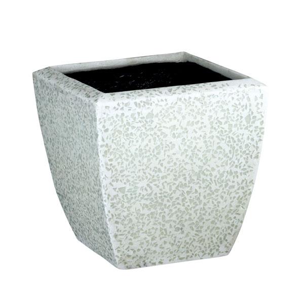 ファイバーグラス鉢カバー:ブライトBS-34ホワイト(8号鉢用)