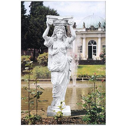 イタリア製石像:カリアティード(高さ155cm)