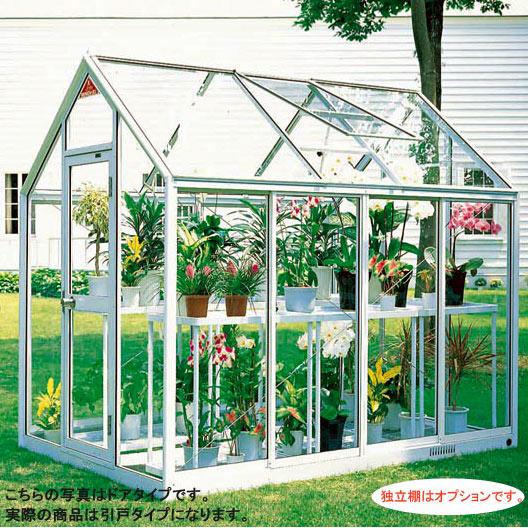[送料無料] 家庭用屋外温室プチカ1.5坪タイプWP-15H(引戸タイプ)