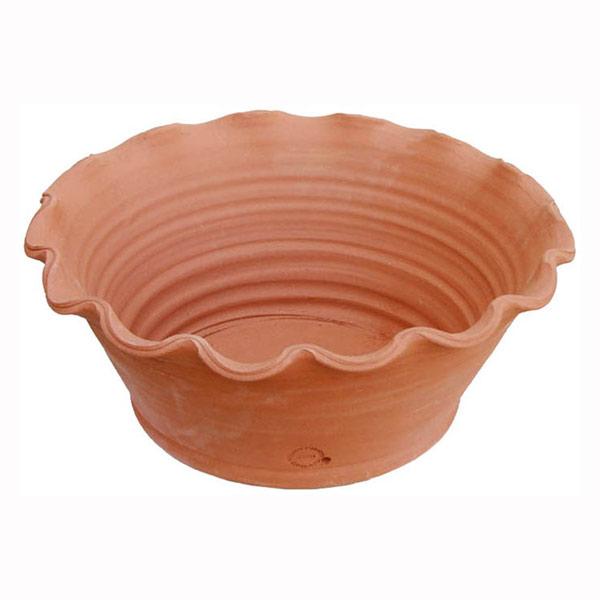 Willow Potteryの鉢 シャロースカロップボウル直径43.5cm